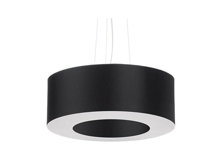 Żyrandol SATURNO 50 czarny Tkanina Stal Metal Lampa z kloszem Kategoria Lampy wiszące
