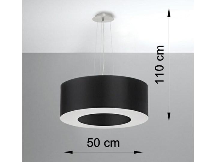 Żyrandol SATURNO 50 czarny Metal Stal Tkanina Lampa z kloszem Kategoria Lampy wiszące
