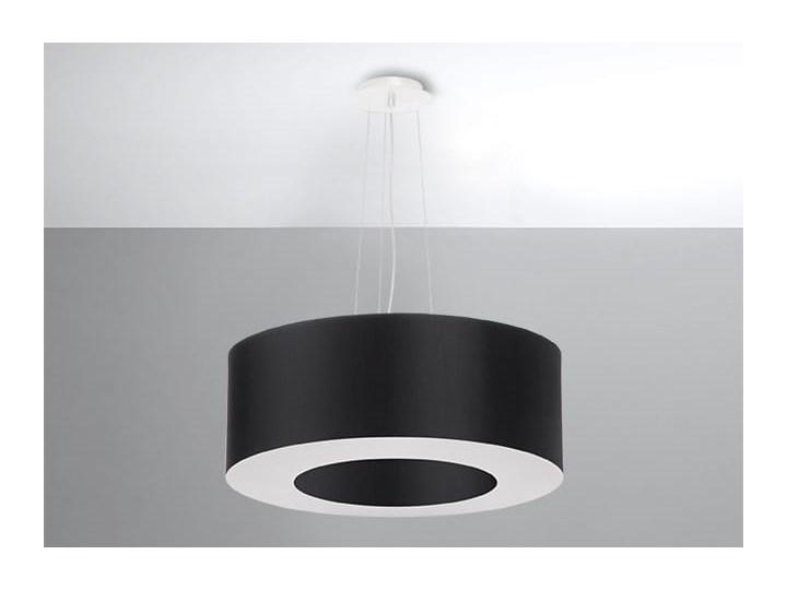 Żyrandol SATURNO 50 czarny Tkanina Lampa z kloszem Stal Metal Kategoria Lampy wiszące