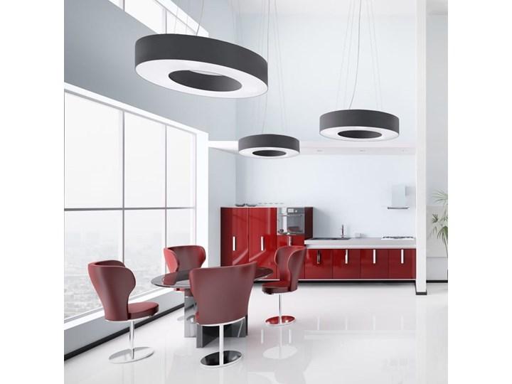 Żyrandol SATURNO 50 czarny Stal Lampa z kloszem Metal Tkanina Kategoria Lampy wiszące