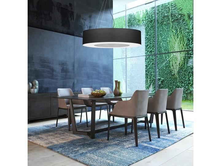 Żyrandol SATURNO 50 czarny Metal Tkanina Lampa z kloszem Stal Kategoria Lampy wiszące