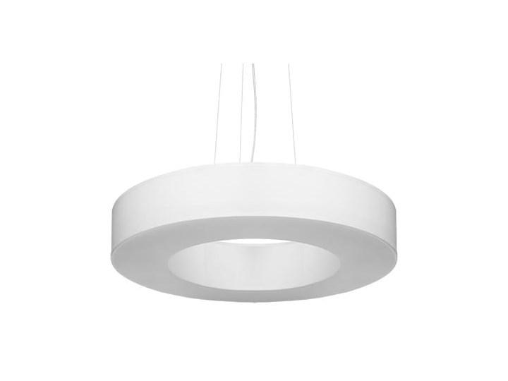 Żyrandol SATURNO SLIM 50 biały Stal Metal Lampa z kloszem Tkanina Funkcje Brak dodatkowych funkcji