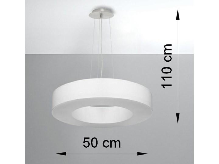 Żyrandol SATURNO SLIM 50 biały Tkanina Stal Metal Lampa z kloszem Funkcje Brak dodatkowych funkcji Kategoria Lampy wiszące
