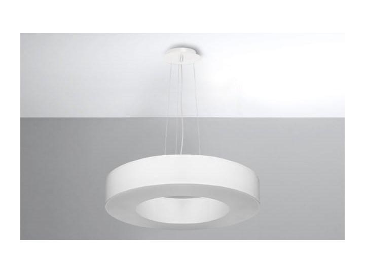 Żyrandol SATURNO SLIM 50 biały Funkcje Brak dodatkowych funkcji Tkanina Lampa z kloszem Stal Metal Kategoria Lampy wiszące