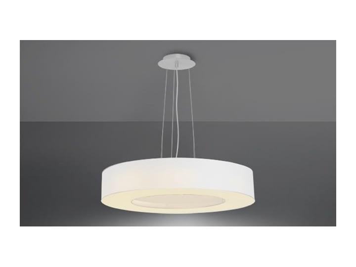Żyrandol SATURNO SLIM 50 biały Lampa z kloszem Stal Metal Funkcje Brak dodatkowych funkcji Tkanina Kategoria Lampy wiszące