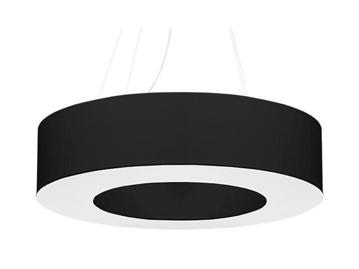 Żyrandol SATURNO 70 czarny Metal Lampa z kloszem Tkanina Stal Kategoria Lampy wiszące
