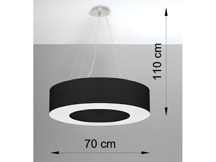 Żyrandol SATURNO 70 czarny Tkanina Stal Lampa z kloszem Metal Kategoria Lampy wiszące