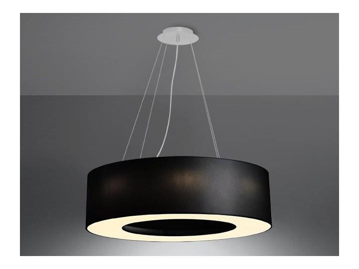 Żyrandol SATURNO 70 czarny Stal Tkanina Metal Lampa z kloszem Kategoria Lampy wiszące