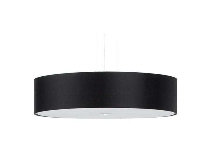 Żyrandol SKALA 50 czarny Szkło Tkanina Stal Lampa z kloszem Metal Kategoria Lampy wiszące