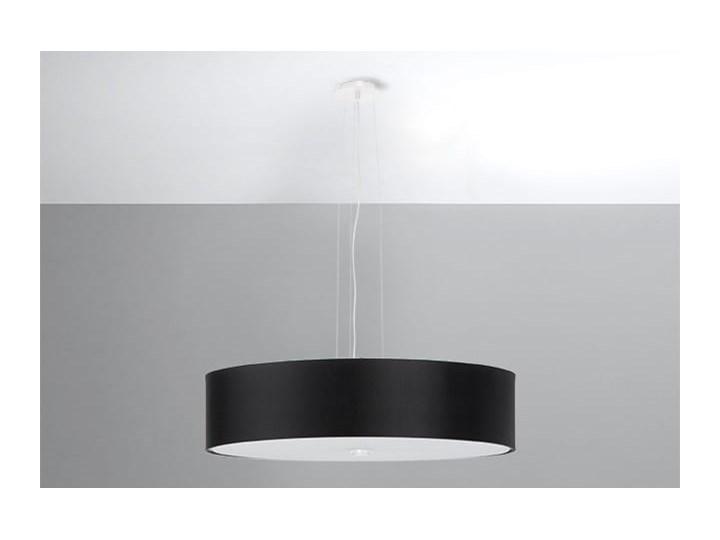 Żyrandol SKALA 50 czarny Stal Szkło Metal Lampa z kloszem Tkanina Kategoria Lampy wiszące