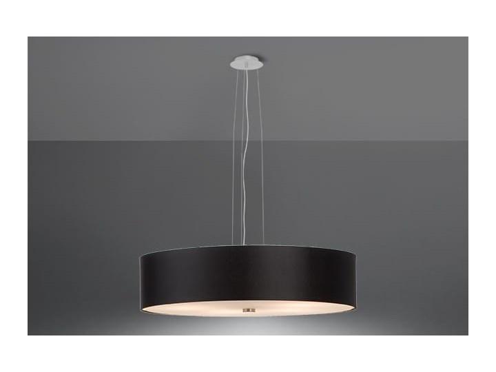 Żyrandol SKALA 50 czarny Lampa z kloszem Szkło Metal Stal Tkanina Kategoria Lampy wiszące