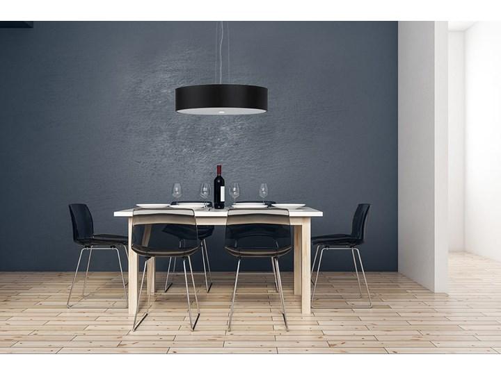 Żyrandol SKALA 50 czarny Metal Lampa z kloszem Tkanina Stal Szkło Kategoria Lampy wiszące