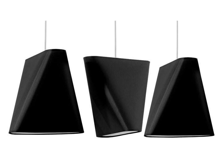 Żyrandol BLUM 3 czarny Lampa z kloszem Stal Tkanina Metal Kategoria Lampy wiszące