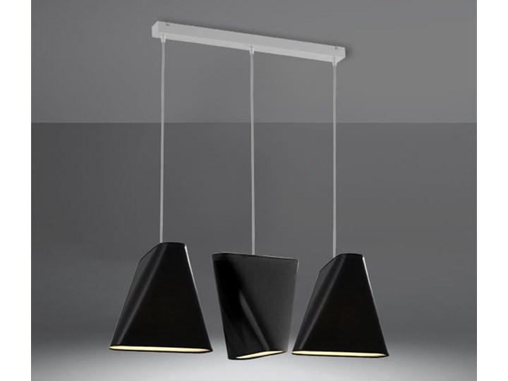 Żyrandol BLUM 3 czarny Lampa z kloszem Tkanina Stal Metal Kategoria Lampy wiszące