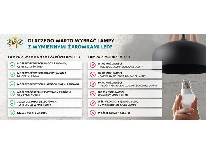Żyrandol BLUM 3 czarny Metal Lampa z kloszem Tkanina Stal Kategoria Lampy wiszące