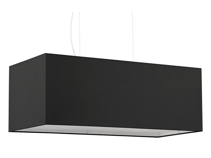 Żyrandol SANTA BIS 80 czarny Stal Tkanina Metal Lampa z kloszem Kategoria Lampy wiszące