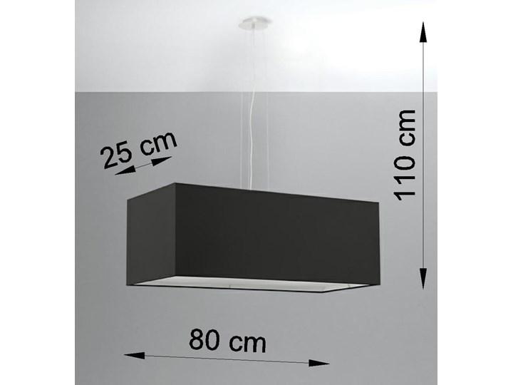 Żyrandol SANTA BIS 80 czarny Stal Metal Tkanina Lampa z kloszem Kategoria Lampy wiszące