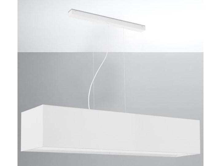 Żyrandol SANTA 120 biały Stal Metal Lampa z kloszem Tkanina Kategoria Lampy wiszące