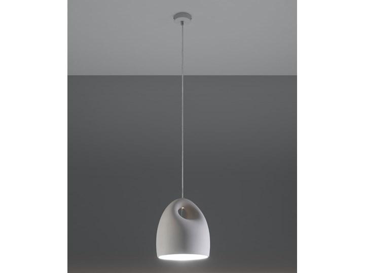 Lampa wisząca ceramiczna BUKANO Kategoria Lampy wiszące Lampa z kloszem Ceramika Kolor Biały
