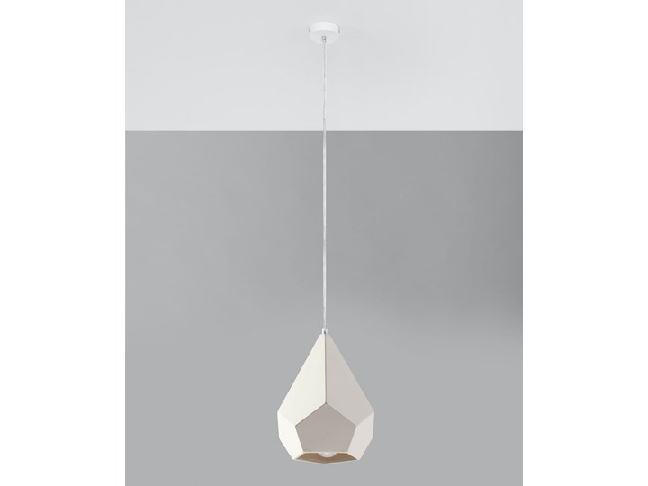 Lampa wisząca ceramiczna PAVLUS Kategoria Lampy wiszące Lampa z kloszem Ceramika Kolor Biały