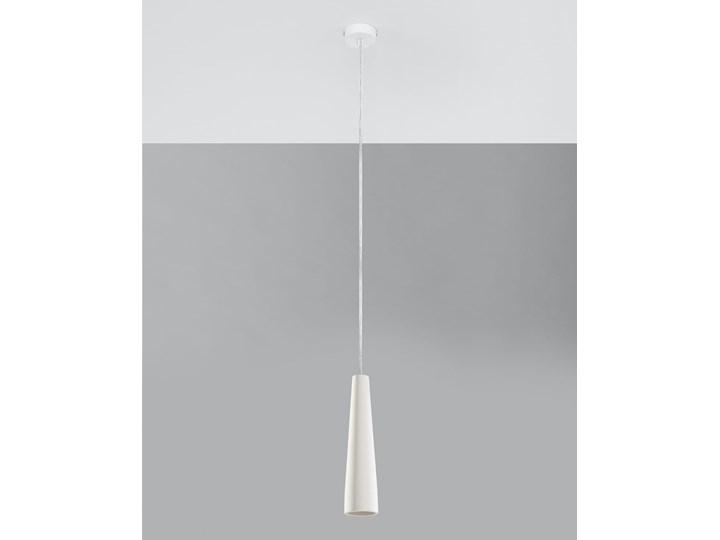 Lampa wisząca ceramiczna ELECTRA Ceramika Lampa z kloszem Kategoria Lampy wiszące Kolor Biały