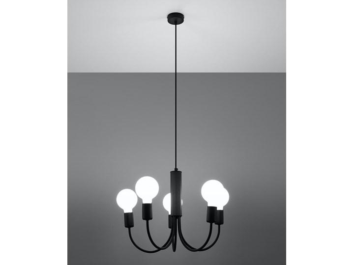 Żyrandol PICCOLO 5 czarny Stal Metal Kategoria Lampy wiszące
