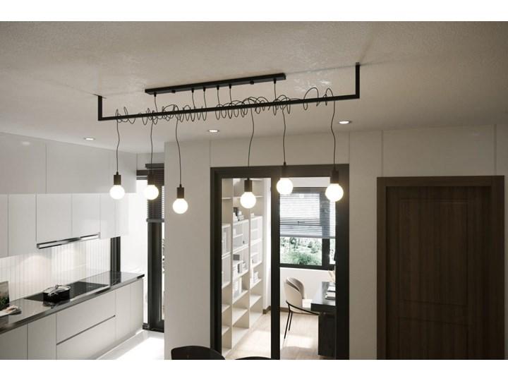 Żyrandol SALAMANCA 4 Tkanina Stal Kategoria Lampy wiszące Metal Kolor Czarny