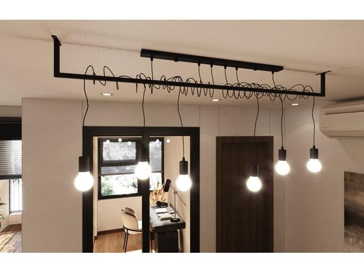 Żyrandol SALAMANCA 4 Stal Tkanina Metal Kategoria Lampy wiszące Kolor Czarny