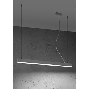 Lampa wisząca PINNE 90 szara 4000K