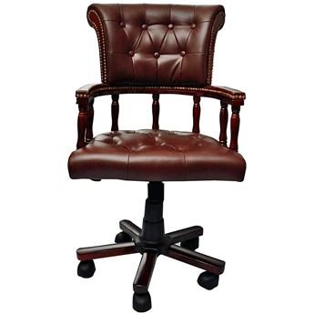 Brązowy fotel obrotowy do gabinetu - Amiri