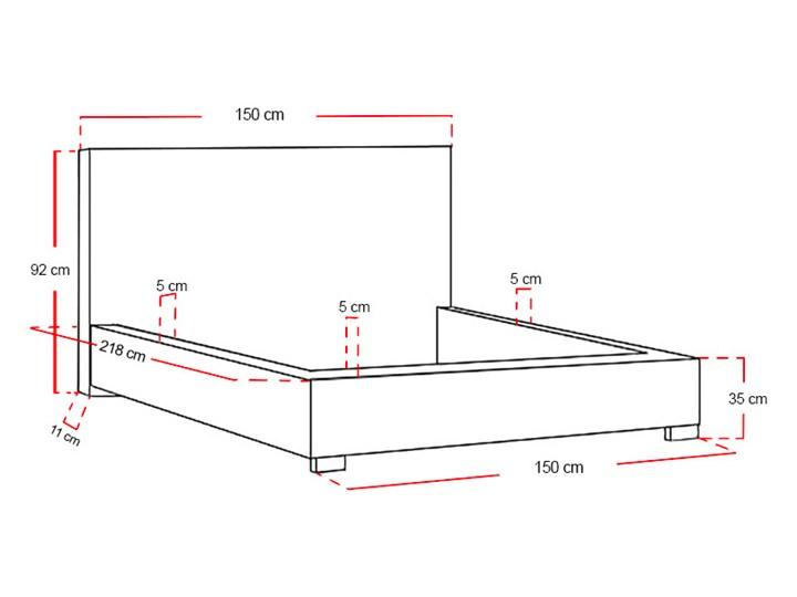 Łóżko tapicerowane Real z pojemnikiem/ velvet Metal Drewno Welur Tkanina Kategoria Łóżka do sypialni