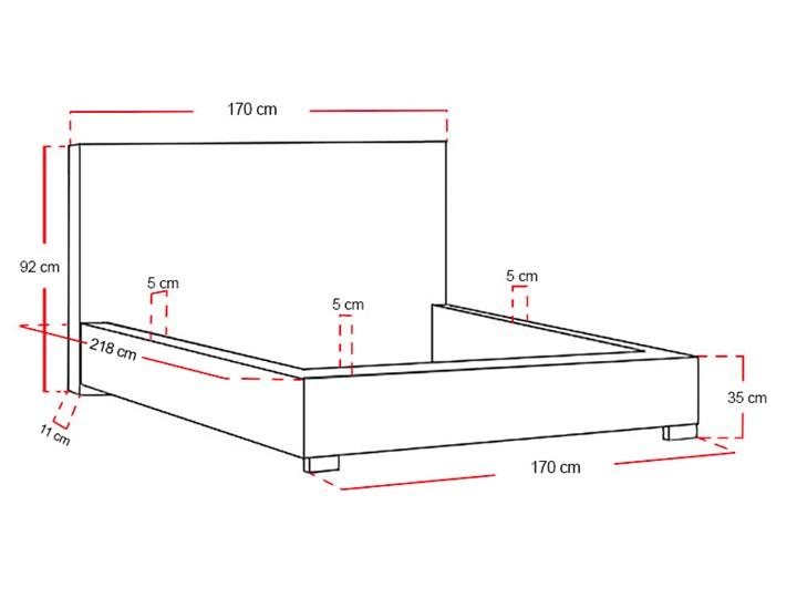 Łóżko tapicerowane Real z pojemnikiem/ velvet Tkanina Drewno Welur Metal Liczba miejsc Jednoosobowe