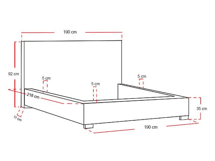 Łóżko tapicerowane Real z pojemnikiem/ velvet Metal Tkanina Drewno Welur Kategoria Łóżka do sypialni