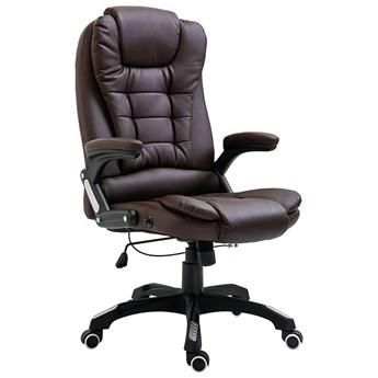 Brązowy rozkładany fotel biurowy - Roniv