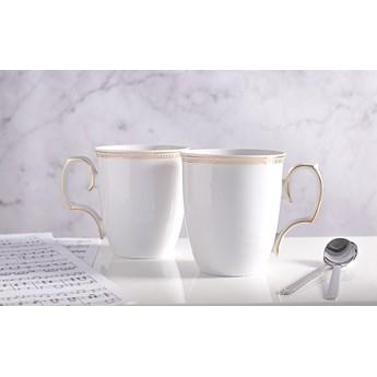 Kubki do kawy i herbaty porcelana MariaPaula Promise 360 ml, komplet 2 kubków