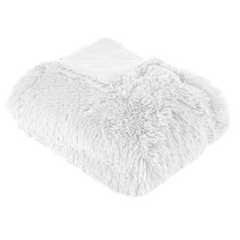 Koc dekoracyjny biały K38-A