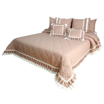 Narzuta pikowana na łóżko z falbaną NMM-02 Mariall
