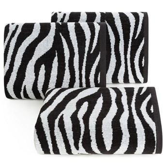 Ręcznik bawełniany czarno-biały R149-01