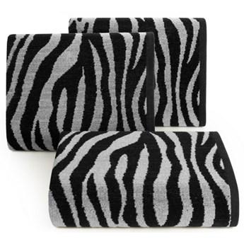 Ręcznik bawełniany czarno-stalowy R149-02