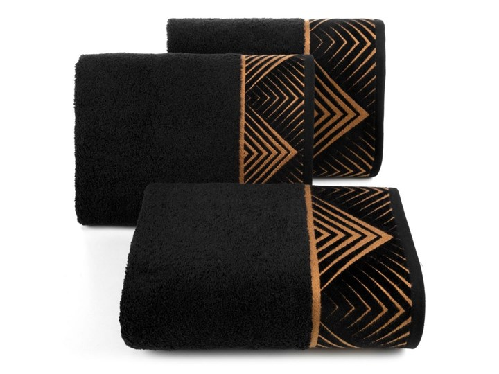 Ręcznik bawełniany czarny R160-01 50x90 cm Bawełna Kategoria Ręczniki