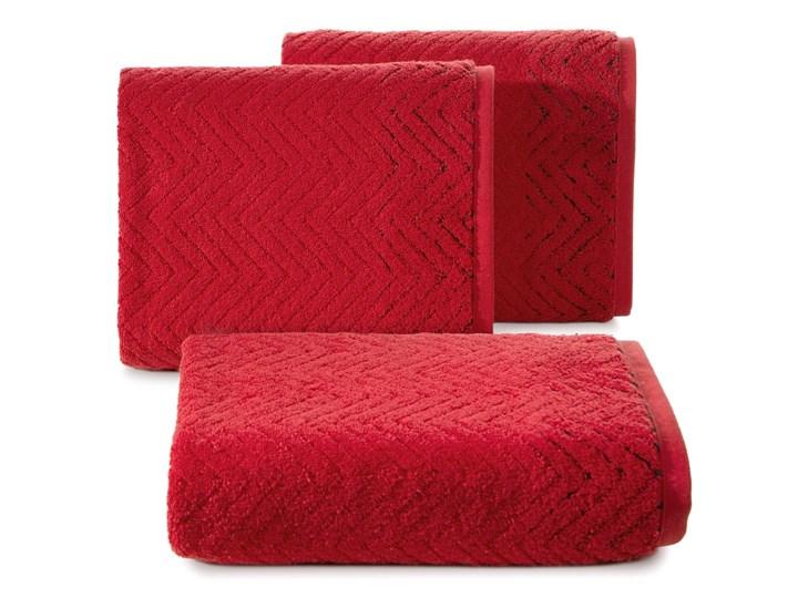 Ręcznik bawełniany czerwony R158-04 50x90 cm 30x50 cm Bawełna Kategoria Ręczniki