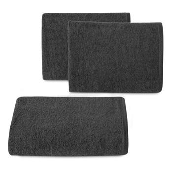 Ręcznik bawełniany gładki czarny R46