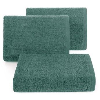 Ręcznik bawełniany gładki ciemnozielony R46-32