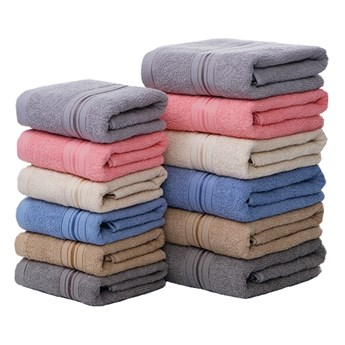Ręcznik bawełniany szary RBU-01