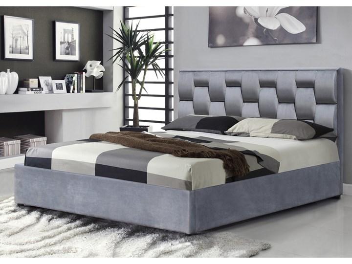 SELSEY Łóżko tapicerowane z pojemnikiem Atalo 160 x200 cm popielate Tkanina Kategoria Łóżka do sypialni