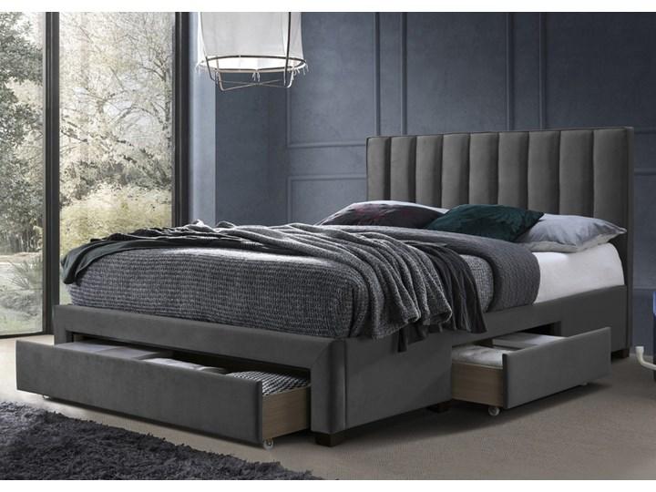 SELSEY Łóżko tapicerowane Baella z szufladami 160x200 cm popielate Drewno Tkanina Kategoria Łóżka do sypialni