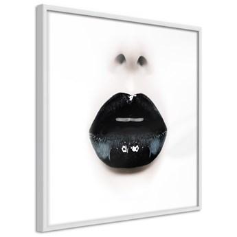 Plakat - Czarna szminka (kwadratowy)