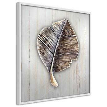 Plakat - Metalowy liść
