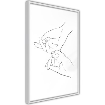 Plakat - Złączone dłonie (biały)
