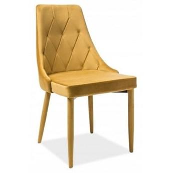 Krzesło TRIX VELVET Curry Signal